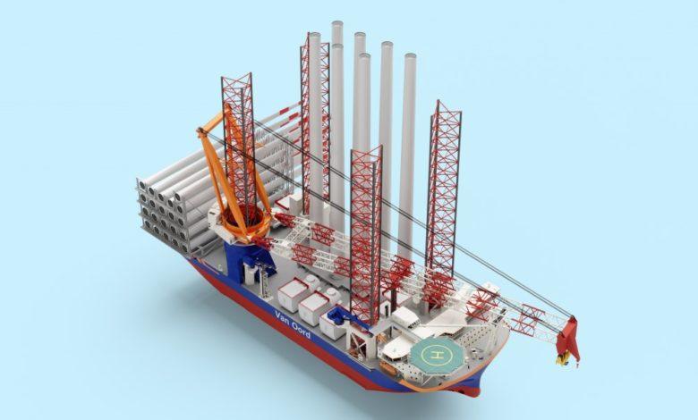 Van Oord commande un « Méga navire » au méthanol pour installer des éoliennes de 20MW