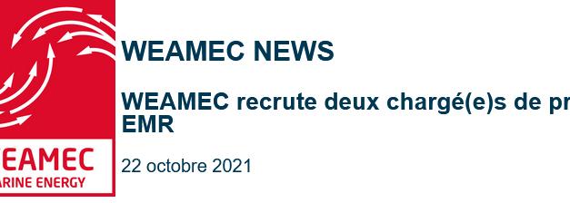 WEAMEC recrute deux chargé(e)s de projet EMR